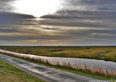Ciel d'hiver sur les marais de brévand
