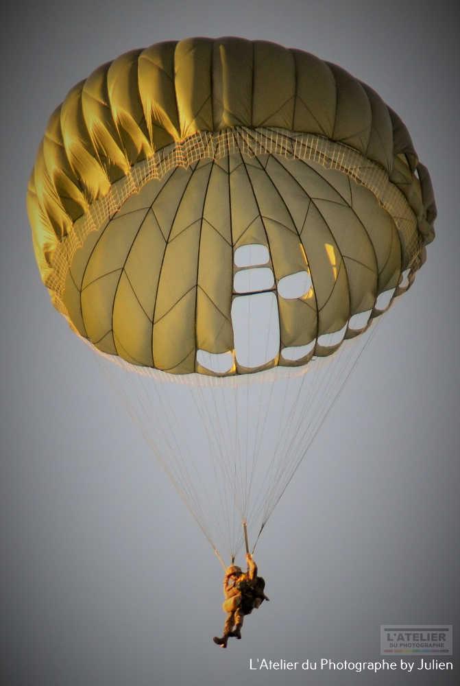 Parachutiste en approche