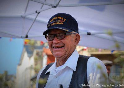 D-Day en Normandie : Vétéran Mullins place de la République