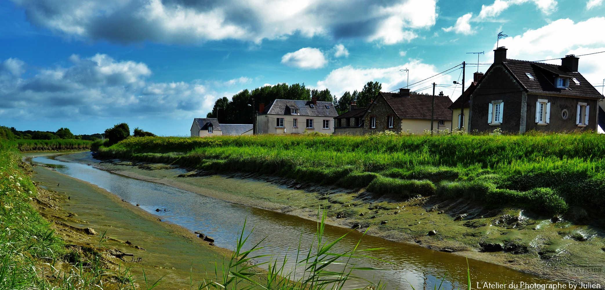 La Taute à marée basse Saint-Hilaire Petitville