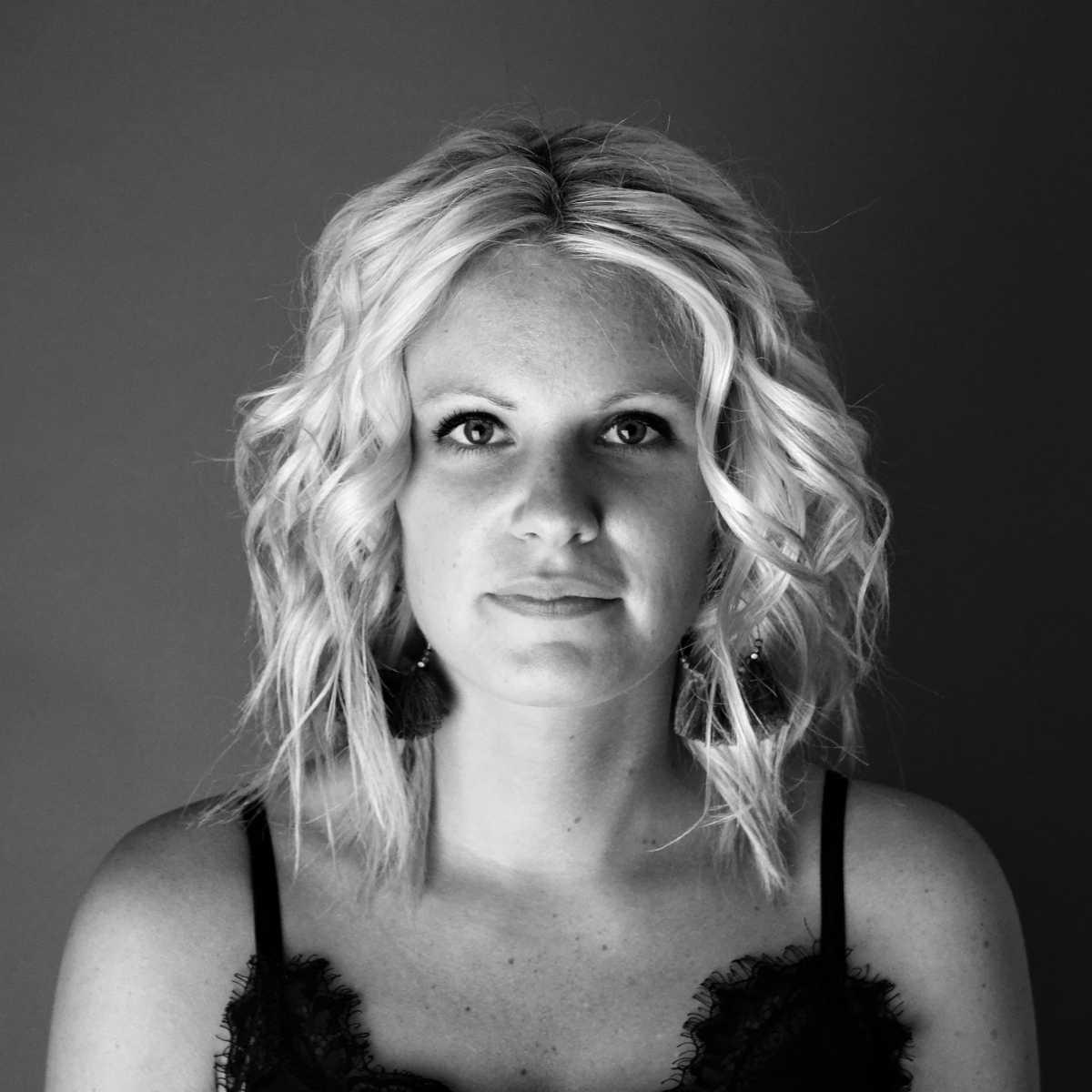 Portrait en noir et blanc à Carentan
