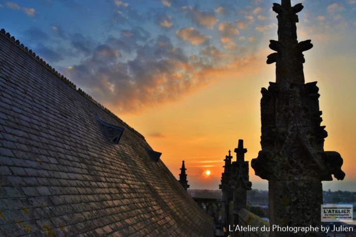 Clocher eglise saint leon Carentan