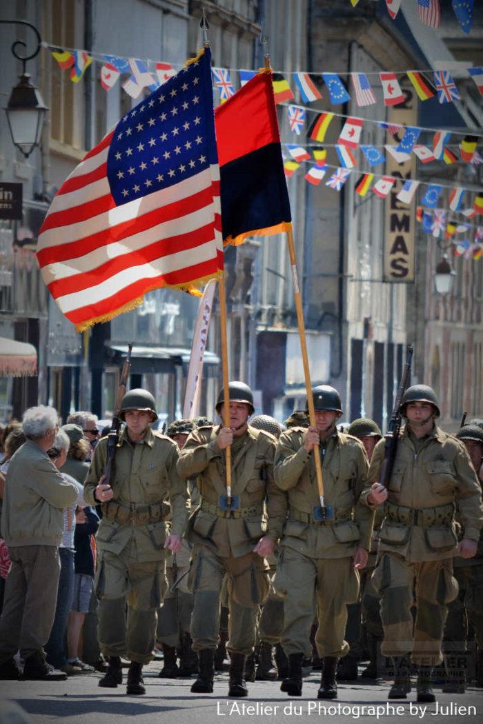 marche du 2 juin à Carentan